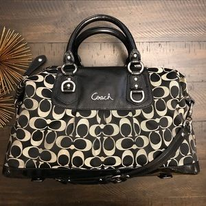 COACH Ashley Signature Sateen Satchel